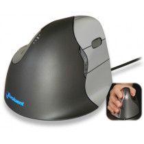 Evoluent Vertical Mouse 4 - med ledning til højre hånd.
